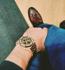 Audemars Piguet & Santoni (Watch Guide) Tags: pink italy leather rose gold oak shoes swiss offshore watch royal made wrist audemars piguet santoni