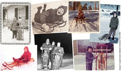 Winters before video games, iphones and on-demand movies. (chescrowel) Tags: winter girls snow boys kids vintage outside hills sledding sleds olddays activities ripper