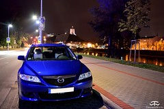 Mazda 6 (Paul.Z.Foto) Tags: time less works timeless timelessworks photo foto photograph photography pic picture image shot shoot car auto bil vehicle automobile automotive mazda 6 japanese import jdm wagon estate blue fwd modified mod diesel lithuania vilnius autumn fall leaves outside outdoors outdoor town city urban river night dark