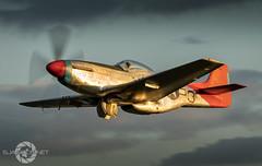 """Evening Glow "" (SJAviation.net) Tags: aircraft nikon 332ndfightergroup p51d tallinthesaddle jet shuttleworth hanger11 redtails oldwarden aviation propblur airshow"