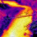 Thermal image of Rift Geyser's eruption runoff (mid-afternoon, 11 August 2016) 1