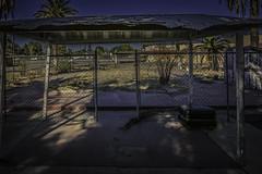 POOL'S OPEN (akahawkeyefan) Tags: highway 99 davemeyer fresno pool swimming filledin abandoned fence