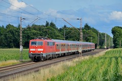 DB BR111 114 met N-wagens te Hamminkeln, 21-07-15 (Danil de Ruig) Tags: br111 db baureihe emmerich duisburg hamminkeln dsseldorf diebahn nwagen