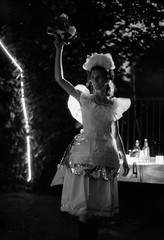film_09_2016_007 (Ondřej Šálek) Tags: analogue analog film ilford hp5 iso 400 expired czechrepublic česká republika black white theather portrait acting wedding actress night divadloherečka hrát svatba