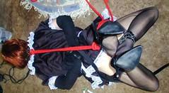 __hr_P1010014 (sub tv Susan from Kent U.K) Tags: bondage bdsm submissive heels hogtied tranny crossdresser