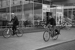 Barefoot Bike-ride- Miranda Fatur BCIT Journalism (mirandafbcit) Tags: coalharbour photojournalism blackwhite people diversity barefeetbike hipsterdude hipsterbeard