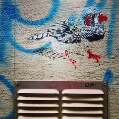 A #bird lost in #tag #mayhem / #ezbai - #Gent #Belgium #streetart #graffiti #streetartbel #streetart_daily #urbanart #urbanart_daily #graffitiart_daily #graffitiart #streetarteverywhere #mural #wallart #gentje #gantoise #visitgent #ilovestreetart #latergr