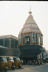 Trichy 4 (grassybrownie) Tags: india tiruchirappalli trichy hindu hindism hindi temple building architecture god art sky film 35mm camera yashica old vintage