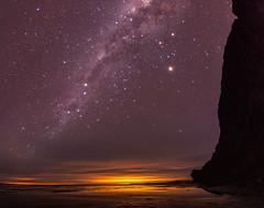 Luna Nueva en Pto. Piramides 1 (Pablo Borboroglu) Tags: night long exposure longexposure nightphotography astrophotography canon5d fisheye