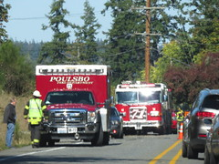 Poulsbo Fire Department Medic 72 and Engine 71 (zargoman) Tags: poulsbo fire department accident wreck crash collision emergency response ambulance aidcar engine truck suv