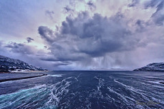 Winter weather (Usstan) Tags: wind costal winter water cold norway seasons blue sunnmøre road runde herøy landscape lens sigma westcoast seaspray outdoor 816mm clouds fjord locations storm wideangle d7100 waves norge snow sea colors seascape møreogromsdal rain sky nikon no