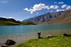 Serene ... Tranquil... Exploring - The un-explored !! (Piyush.Saxenaa) Tags: nikon d5100 nikond5100 18105 18105mm nikon18105mmf3556 nikon18105mmafsdxzoomnikkorf3556gedvrlens piyush piyushsaxena piyushsaxenaa psphotography serene landscape travel mountains green greenmountains water lake clouds chandrataal kaza spiti spitivalley himachal himachalpradesh india scenery happy sky grass light blue summer sun