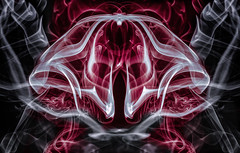 Space Invader (zuni48) Tags: smoke smokeart abstract selectivecolor photomanipulation surreal