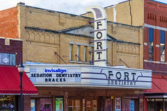 Fort Theatre Marquee (Eridony) Tags: kearney buffalocounty nebraska downtown theater theatre marquee sign historic nrhp nationalregisterofhistoricplaces