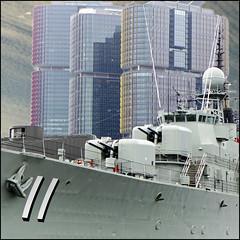 Battlestations (Meremail) Tags: sydney darlingharbour warship buildings
