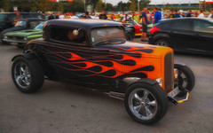flames (try...error) Tags: fuji xpro1 car hot rod hotrod orange black