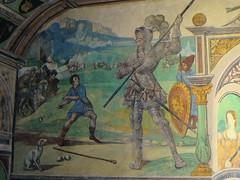 IMG_1935 (edelmauswaldgeist) Tags: freske schlos pinzgau ritter zelte dame berge heereszug schwert steinschleuder junge