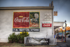 Drink Coca-Cola at the T. B. Sutton Store (donnieking1811) Tags: tennessee granville tbsuttongeneralstore cocacola coke building buildings exteriors themayberrydiner lights wreaths redribbon thesoundtrackofamerica madeintennessee madeintn canon 60d
