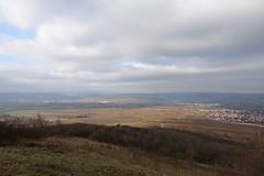 Friedenskreuz: Blick auf Bingen, Rochuskapelle und Niederwalddenkmal (Germania)