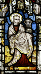 St Barbara (Lawrence OP) Tags: mma newyork stainedglass english stbarbara martyr tower saint