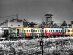 Vecchio Treno Romania (Wronny) Tags: train treno old vecchio romania ferrovia ferrovie binari railway grass prato campagna country rail rails