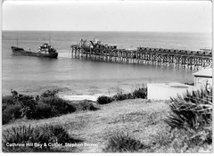 Ship 'Stephen Brown' departing Catherine Hill Bay in 1954 (UON Library,University of Newcastle, Australia) Tags: stockton stocktonhistory catherinehillbay newsouthwales australia