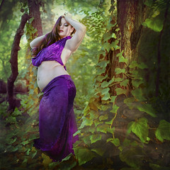 'Velvet Curves' (Natasha Root Photography) Tags: natasharootphotography inspire imagine create painterly purple velvet squareformat square ivy vivid vibrant rich color royal surreal fineart fineartphotography fashion forest