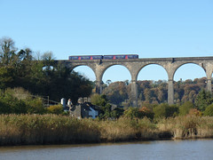 150265 Calstock Viaduct (7) (Marky7890) Tags: gwr 150265 class150 sprinter 2p84 calstockviaduct railway station train cornwall calstock tamarvalleyline