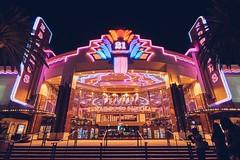 Edwards 21 (Matt Masamori) Tags: theater neon spectrum lit 21 night lights nighttime red blue pink purple movie grandeur outside irvine oc california edwards tickets sony carlzeiss