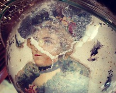 Feeling a bit broken up this morning. (luvehorror) Tags: broken victorian sad uneasy victorianglass victorianscraps darkdays christmas christmaswillbemagicagain holiday divided