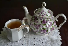 Dressed to the Tea (I'm a sea) Tags: tea time teatime afternoon high lace teapot pot cup mug dish fancy cozy comfy fine china drink still life