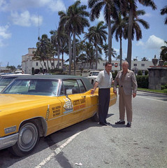 Carr Hatch & John Devaney with Cutty Sark 1968 Cadillac - Palm Beach (State Library and Archives of Florida) Tags: florida palmbeach cadillacs advertisements