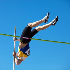 Almost there (gordeau) Tags: legionnationalyouthtrackandfieldchampionships sports polevault gordon ashby gordeau upsidedown square unanimous