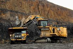 Caterpillar 6030FS - Caterpillar 777F (Falippo) Tags: coal mining mine hargreaves caterpillar cat caterpillar6030 caterpillar777 bagger dumper excavator miningmachines miniera carbone occs hirwaun towercolliery
