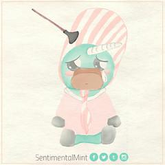 Almendra (SentimentalMint) Tags: unicornio verde menta almendra art cute dibujo fermin ilustracion rock nacional spinetta
