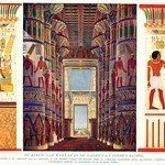 wonderen der oudheid I, 1925, ill  Karnak  tempel reconstructie