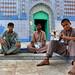 Photographers at Shrine of Sachal Sarmast