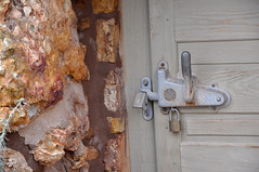 2016 Grand Canyon History Symposium Desert View Watchtower 0477 (Grand Canyon NPS) Tags: grandcanyon historical society 2016symposium desert view watchtower tour hopi artist fred kabotie murals mary colter historic building exterior door latch