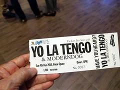 Yo La Tengo ticket- Bangkok (ashabot) Tags: yolatengo concert bangkok