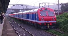 BRAND NEW DEMU OF NORTH FRONTIER RAILWAY AT DIVA, MUMBAI (arzankotval2002) Tags: mumbai diva indianrailways demu irfca beml sonyfdrax100e