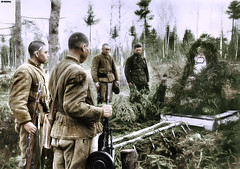 Soviet soldiers at the grave of their fallen comrade. East Prussian front 1945 (Za Rodinu) Tags: world 2 man men history vintage soldier war gun russia military rifle rifles front german weapon ww2 soldiers historical guns 1942 1945 rare troops 1944 1943