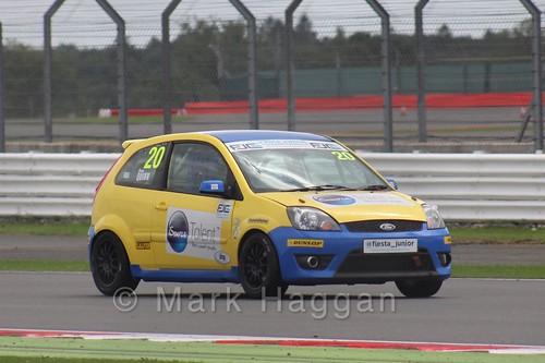 Ronan Quinn in the BRSCC Fiesta Junior Championship at Silverstone, August 2015