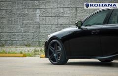 Lexus IS250 - RC8 Matte Black (7) (Rohana Wheels) Tags: wheels toyota rims concave lexus trd luxurycar rohana is250 lexusis250 rc8 luxurywheels fsport rcseries rohanawheels