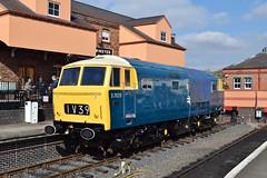 D7029 at Kidderminster. 2/10/15 (Nick Wilcock) Tags: br railways severnvalleyrailway kidderminster brblue dieselhydraulic hymek dieselgala d7029
