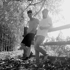 24 17 (plot19) Tags: family light portrait blackandwhite man black male men love fashion fence pose manchester photography blackwhite cool model jake northwest brothers jacob sony north young son 25 teenager 17 24 18 now northern sons fasion rx100 snapback plot19