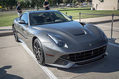 Not Red (Hunter J. G. Frim Photography) Tags: silver italian colorado grigio gray ferrari na coupe supercar f12 v12 ferro berlinetta cherryhills 2013 aspirated ferrarif12 ferrarif12berlinetta grigioferro