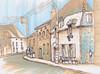 France. Old Town Street (Kate_Lokteva) Tags: art sketch drawing sketchbook marker draw markers artworks letraset promarkers