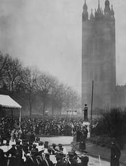 Unveiling of the statue of Emmeline Pankhurst, 1930.