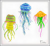 Fantasy Mixed Media Jellyfish (Trev Grant) Tags: jellies jellyfish colouring staedtler colouringbook 2015 colouredpencils fabercastell triplusfineliners lostocean polychromos johannabasford medusozoa ergosoftaquarell 30thnovember2015