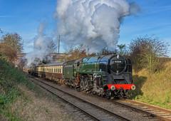 9F Power (4486Merlin) Tags: england europe leicestershire unitedkingdom transport places steam countries railways midlands gbr greatcentralrailway woodthorpe heritagerailways 92214 exbr brstd9f2100 lasthurrahgala